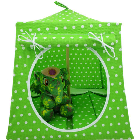 Bright,green,Toy,Play,Pop,Up,Tent,,2,Sleeping,Bags,,white,polka,dot,print,fabric,toy play pop up tent,fabric toy tents,kids play tents,bright green fabric tent,white polka dot print tent,girls toys,Neopet stuffed animal tent,toy tent,dollhouse,gift for child,sleeping bags,handmade doll tent,toytentsandchairs