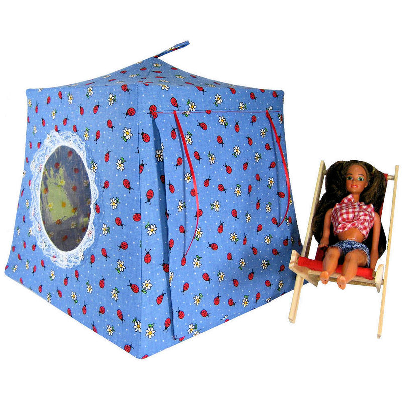 Blue Toy Play Pop Up Tent 2 Sleeping Bags ladybug u0026&; flower print  sc 1 st  Toy Tents And Chairs & Blue Toy Play Pop Up Tent 2 Sleeping Bags ladybug u0026 flower print ...