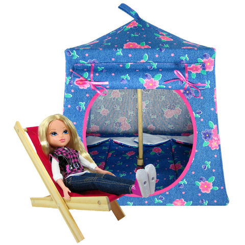 Light,blue,Toy,Play,Pop,Up,Tent,,2,Sleeping,Bags,,flower,print,fabric,toy play pop up tent,toy pop up tent,fabric toy tents,kids play tents,light blue tent,flower print tent,toy for girl,Moxie Girlz tent,tent for dolls,houses for doll,camping toys,sleeping bags,handmade dollhouse,toytentsandchairs