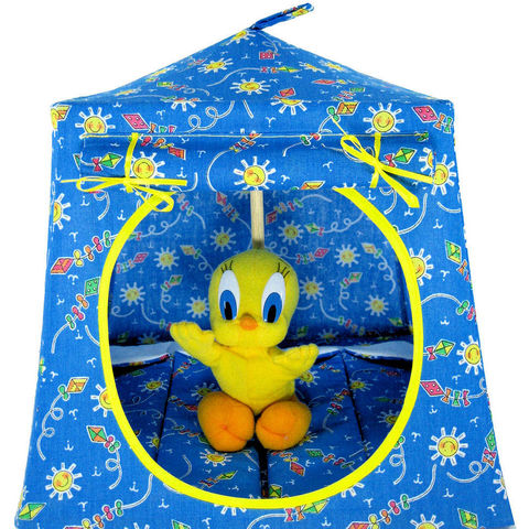 Light,blue,Toy,Play,Pop,Up,Tent,,2,Sleeping,Bags,,kite,&,sun,print,fabric,toy play pop up tent,toy pop up tent,fabric toy tents,kids play tents,light blue tent,kite and sun print tent,toy for kids,Tweety Bird tent,doll tent,stuffed animal house,camping toys,sleeping bags,handmade toy tent, toytentsandchairs