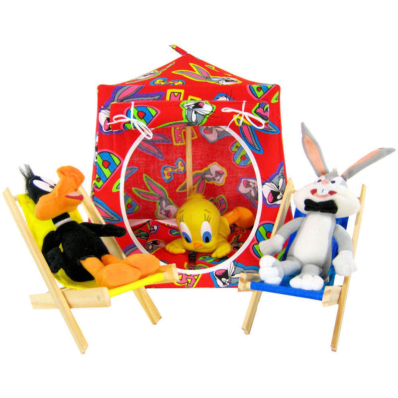 Red Toy Play Pop Up Tent 2 Sleeping Bags Bugs Bunny print fabric -  sc 1 st  Toy Tents And Chairs & Red Toy Play Pop Up Tent 2 Sleeping Bags Bugs Bunny print fabric ...