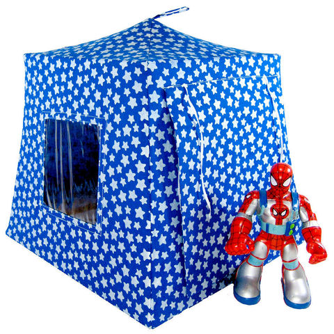 Royal,blue,Toy,Play,Pop,Up,Tent,,2,Sleeping,Bags,,silver,star,print,fabric,toy play pop up tent,toy pop up tent,fabric toy tents,play tent,royal blue  tent,silver star  tent,toy for boys,Spiderman tent,action figure tent,tent for kids,fabric play house,sleeping bags,handmade,toytentsandchairs