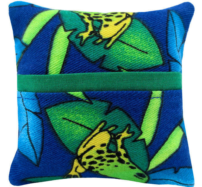 Tooth Fairy Pillow, royal blue, frog print fabric, green ...