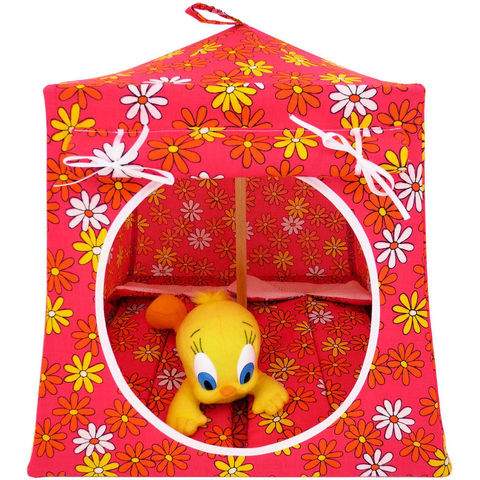 Pink,Toy,Play,Pop,Up,Tent,,2,Sleeping,Bags,,daisy,print,fabric,toy play pop up tent,fabric toy tents,kids play tents,pink fabric tent,daisy print tent,toys for girls,Tweety Bird tent,Barbie tent,tent for dolls,stuffed animal tent,gift for child,sleeping bags,handmade doll tent,toytentsandchairs