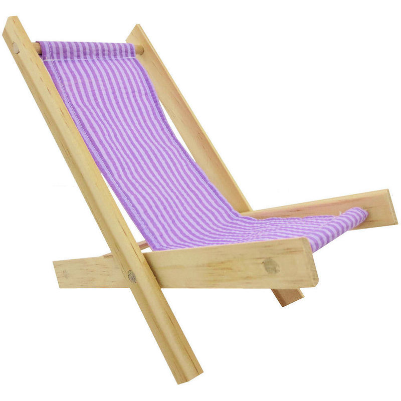 Toy Wood Doll Folding Chair, Purple U0026 White Stripe Fabric   Toy Tents And  Chairs