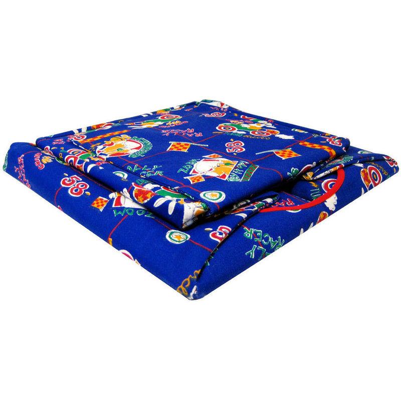Blue Toy Play Pop Up Tent 2 Sleeping Bags Racing Bunny Print Fabric