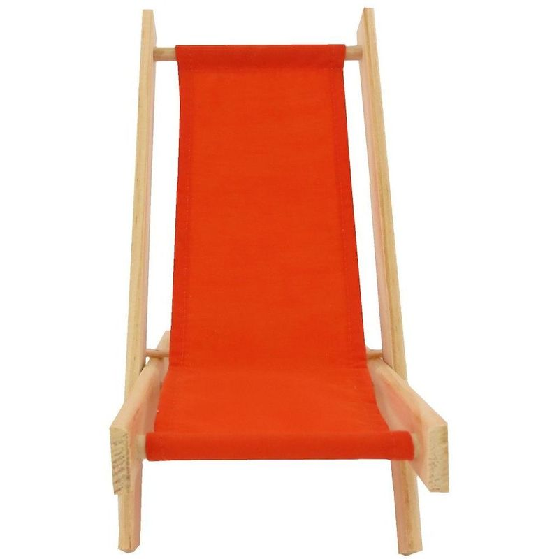 Toy Wood Lawn Folding Chair, Orange Fabric   Product Images Of