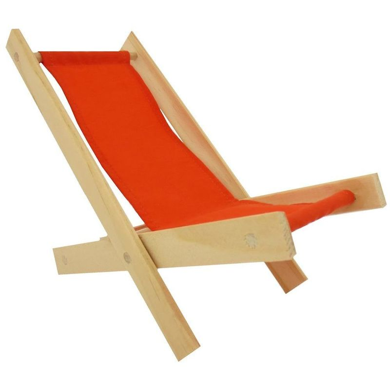 ... Toy Wood Lawn Folding Chair, Orange Fabric   Product Images Of ...
