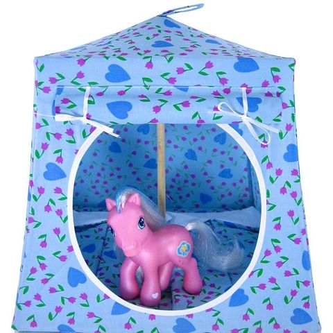 Light,blue,Toy,Play,Pop,Up,Tent,,2,Sleeping,Bags,,tulip,&,heart,print,fabric,toy play pop up tent,fabric toy tents,pretend play tent,light blue tent,heart print tent,childrens play tent,My Little Pony tent,toy camping tent,house for dolls,toy play tent,sleeping bags,handmade toy tent, toytentsandchairs