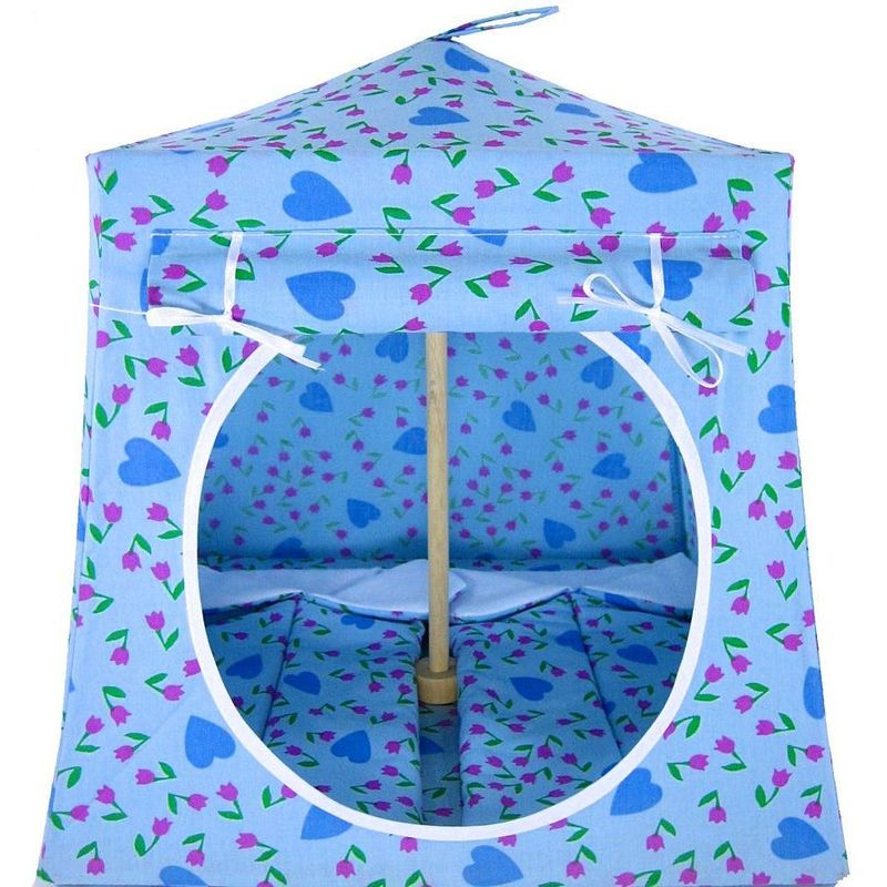 Light Blue Toy Play Pop Up Tent 2 Sleeping Bags Tulip