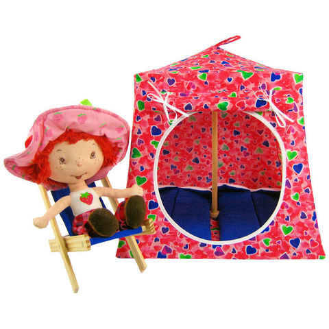 Red,Toy,Play,Pop,Up,Tent,,2,Sleeping,Bags,,multicolored,heart,print,fabric,toy play pop up tent,fabric toy tents,kids play tents,red fabric tent,heart print tent,gift for girls, Strawberry Shortcake tent,doll camping toy,stuffed animal tent,gift for children,royal blue sleeping bags,handmade dollhouse,toytentsandchairs