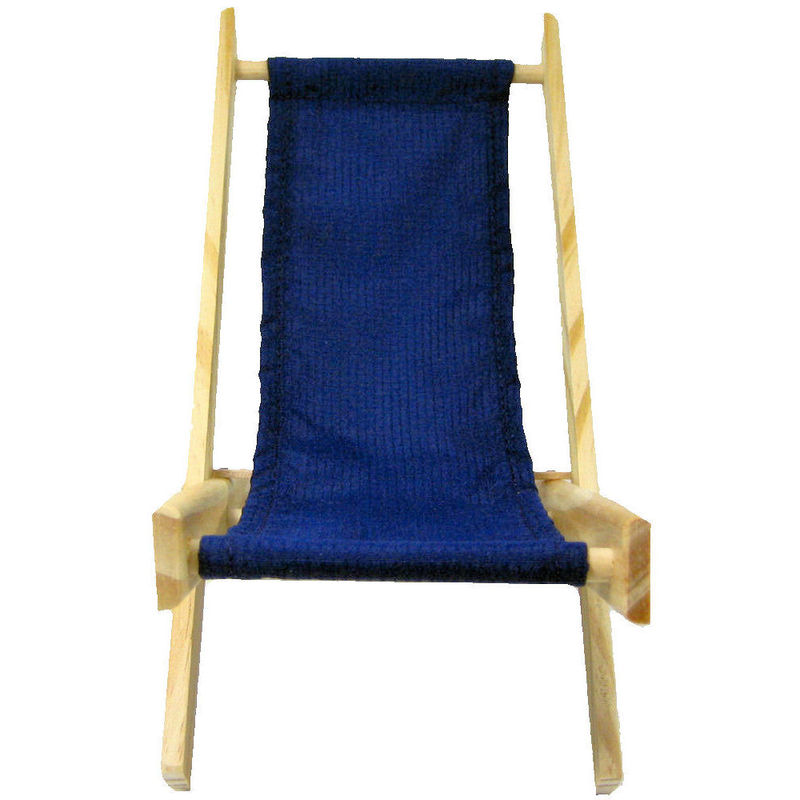 Toy Wood Lounge Folding Chair navy blue fabric Toy Tents And Chairs