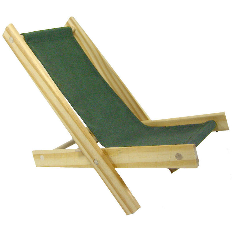 Toy Wood Beach Folding Chair olive green fabric Toy Tents And Chairs
