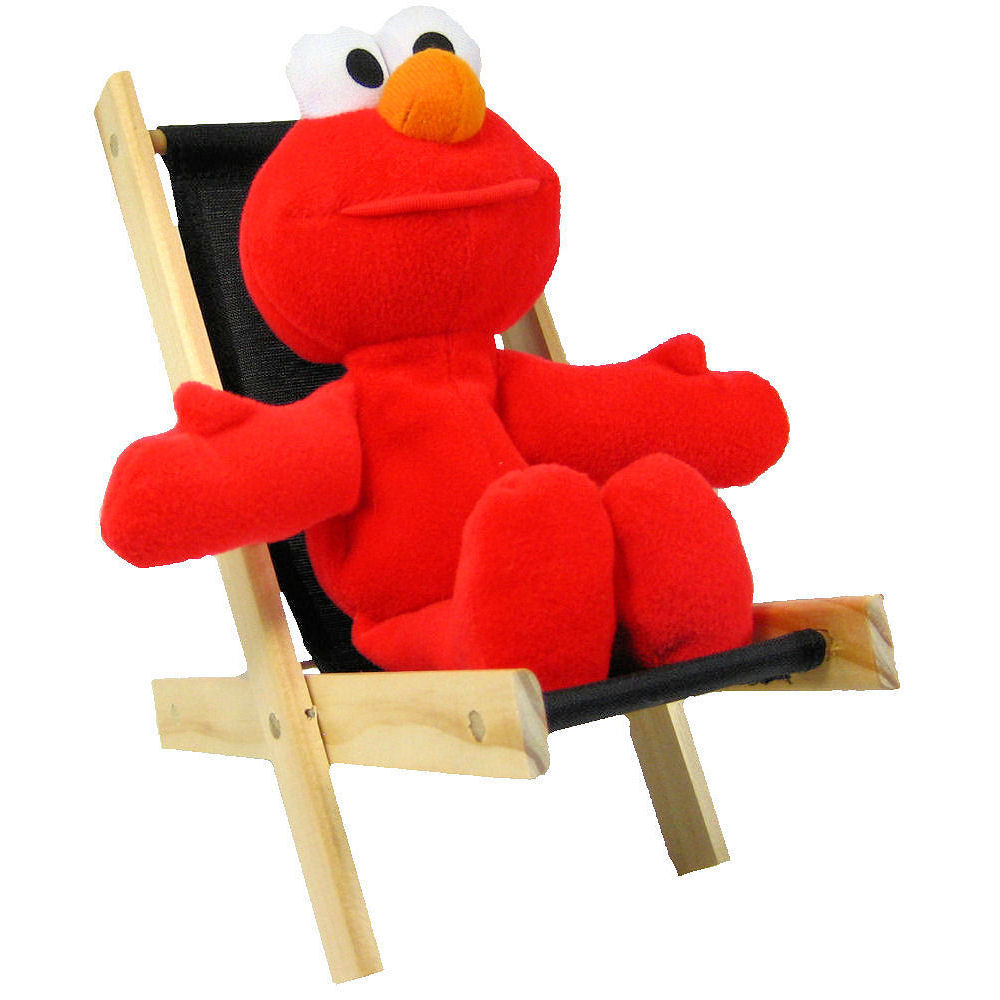Elmo folding chair - Toy Wood Lounge Folding Chair Black Fabric