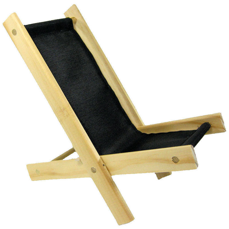 Toy Wood Lounge Folding Chair black fabric Toy Tents And Chairs
