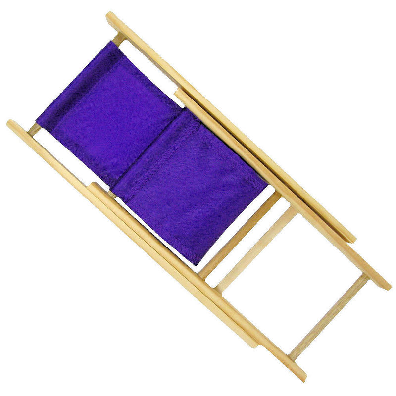 Toy Wood Lounge Folding Chair, Purple Fabric   Product Images Of