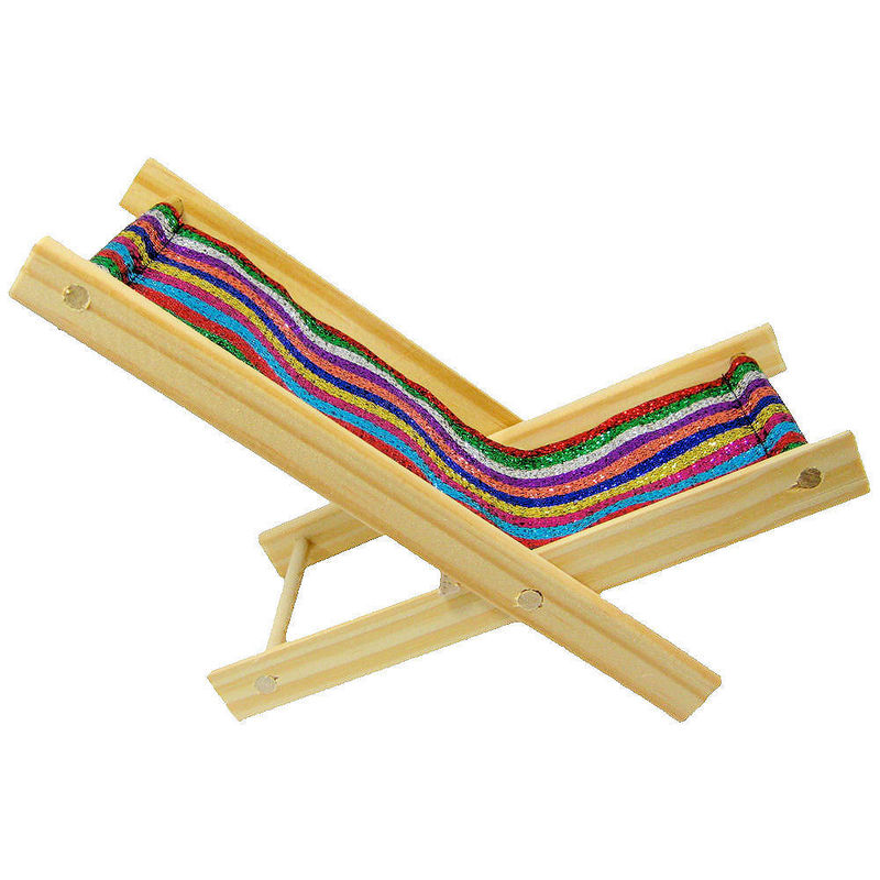 toy wood beach folding chair glitter multicolor stripe fabric product images of