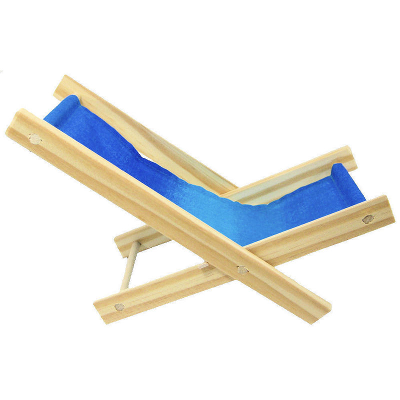 Toy Wood Lawn Folding Chair, Shades Of Blue Fabric   Product Images Of