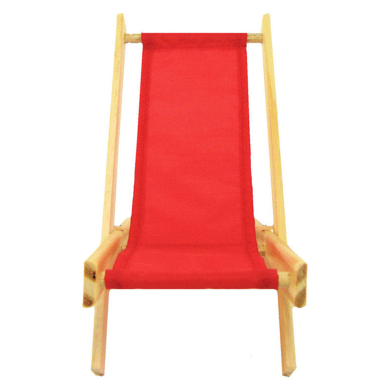 Toy Wood Beach Folding Chair, Red Fabric   Product Images Of