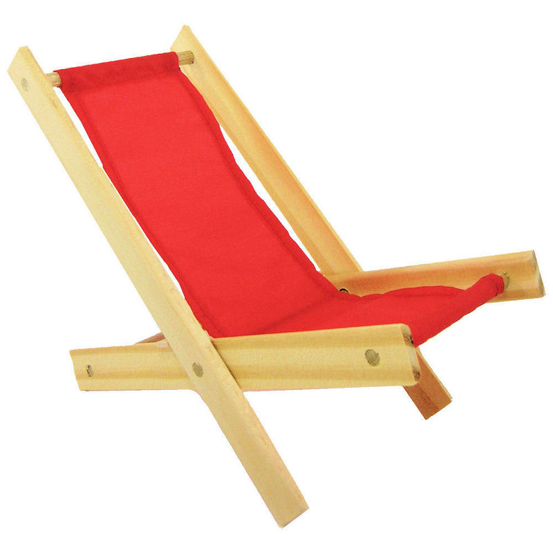 ... Toy Wood Beach Folding Chair, Red Fabric   Product Images Of ...