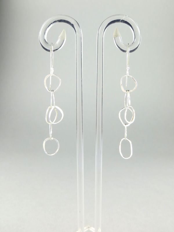 Hand-forged chain earrings #2 - product image