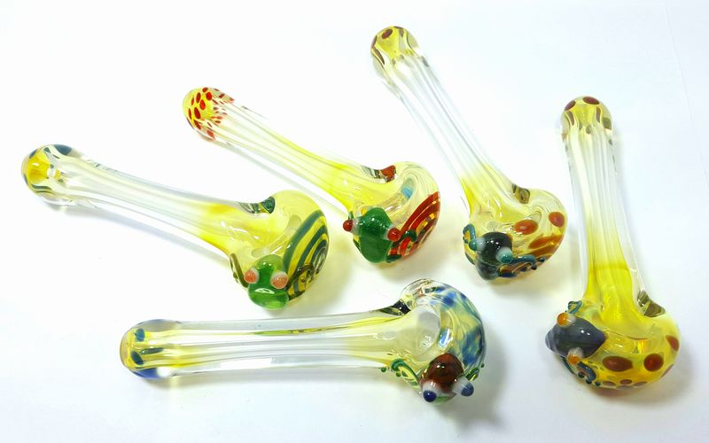 "4"" Inch Heavy Glass ""El Frog"" Spoon Tobacco Smoking Pipe  - product images  of"