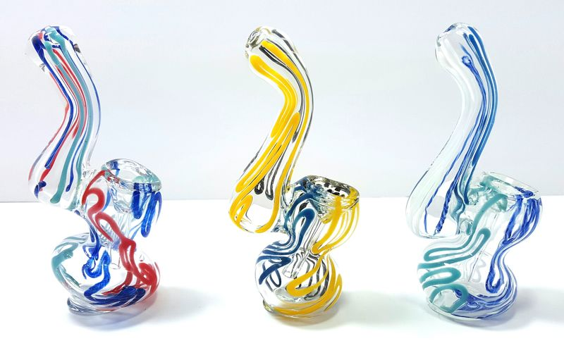 "Mini 4.25"" Inch Heavy Glass Single Chamber Bubbler Water Pipe  - product images  of"