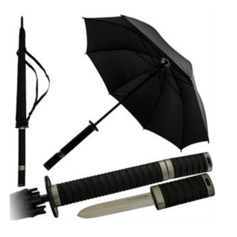 Katana,Umbrella,Black,Full,Size,Rain,Gear,Personal,Protection,Equipment,sword, martial arts, katana