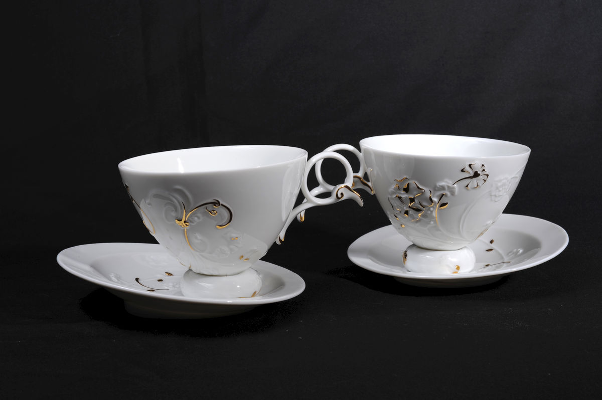 Baroque Style Flower (coffee cup & saucer x2)  午茶巴洛克 - product images  of