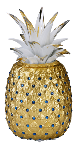 Pineapple,Vase(Matte,gold),金鑽旺來(全金-,霧)