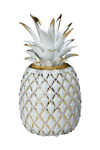 Pineapple,Vase,(Original),金鑽旺來,(局部金)