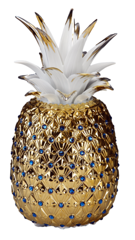 Pineapple,Vase,(Shinny,gold),金鑽旺來(全金-,亮)