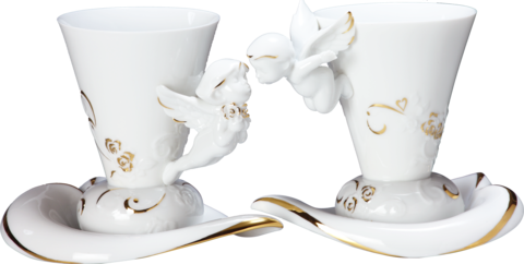 Lovely,Angels,(,coffee,cup,&,saucer,x2),相親相愛-天使對杯(杯盤組),angel, tableware, coffee, coffee cup, 咖啡杯