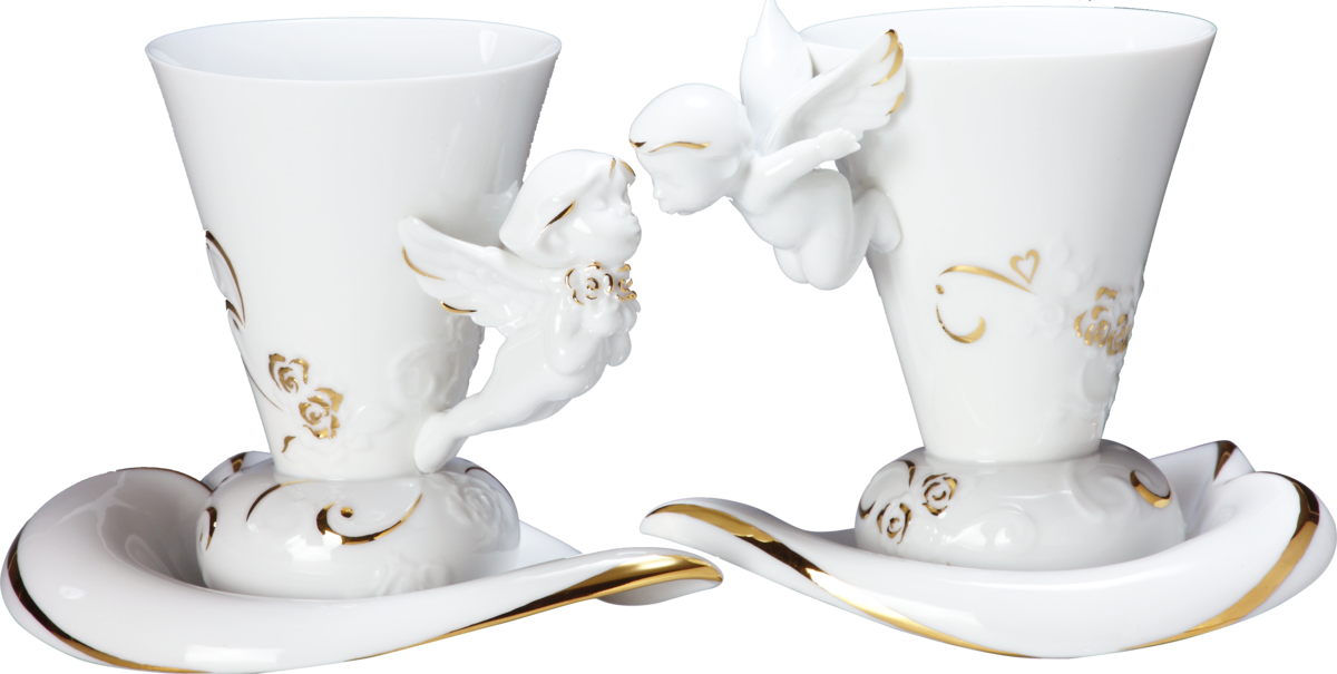 Lovely Angels ( coffee cup & saucer x2) 相親相愛-天使對杯(杯盤組) - product images  of