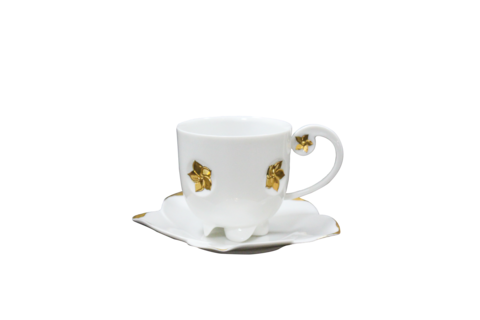 Hong,Kong,Orchid,Coffee,Cup,&,Saucer,紫荊花咖啡杯組,tableware, coffee, coffee cup, 咖啡杯