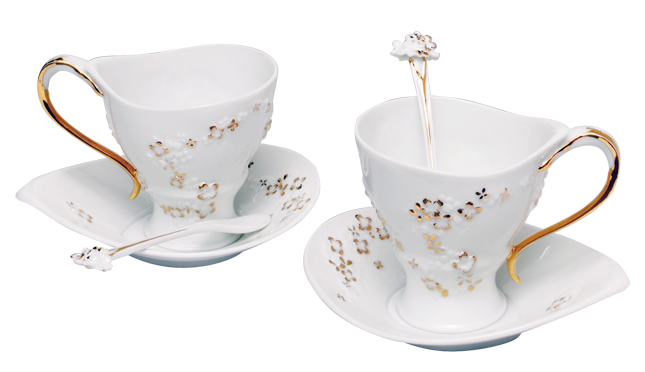 The Goodess' Tea Time (coffee cup & saucer, 2 sets)女神的下午宴 咖啡杯盤組(一對,不含咖啡匙) - product images  of