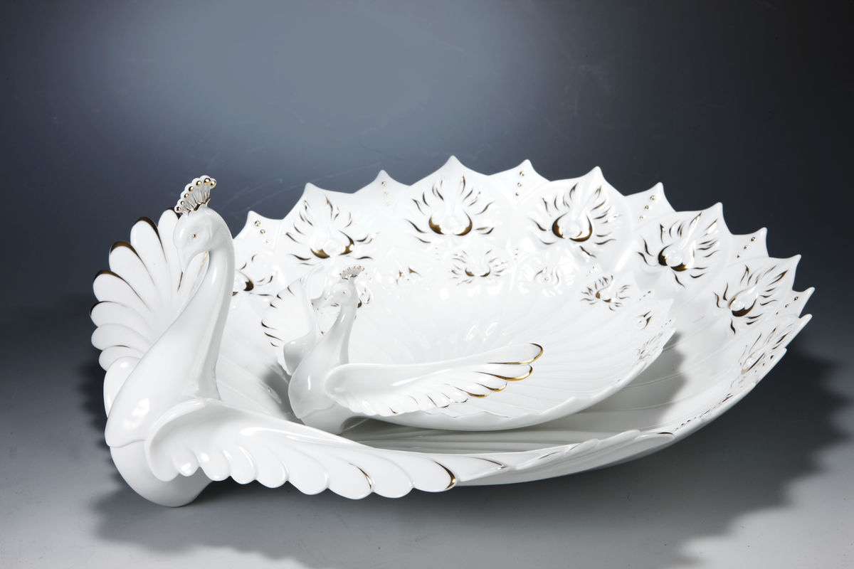 Graceful Peacock Series - Plate  華舞雀屏盤(小) - product images  of