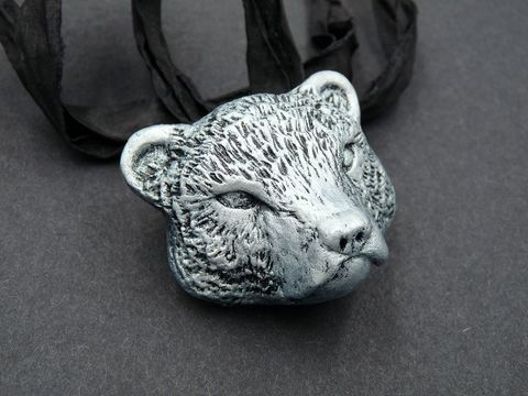 Bear,head,necklace,bear jewellery,bear jewelry,bear head necklace,bear head pendant