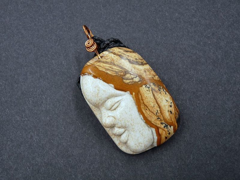 Spirit Guide Amulet, Picture Jasper - product image