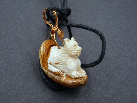 Cat,necklace,,African,Picture,Jasper,cat necklace,cat pendant,cat carving,stone cat,jasper cat,picture jasper