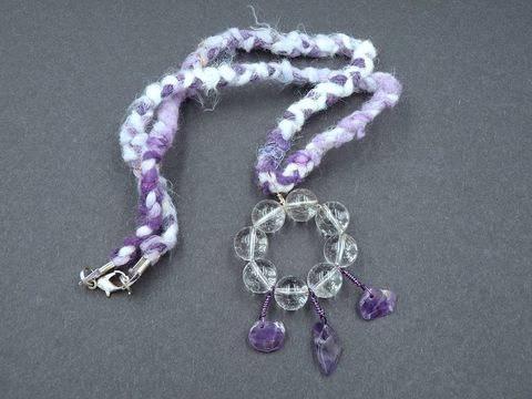 Amethyst,and,Quartz,necklace,amethyst necklace,amethyst pendant,quartz pendant,quartz necklace