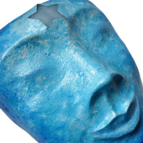 Blue,Star,Goddess,wall,mask,goddess sculpture,goddess face,goddess mask,star goddess,blue goddess,wall plaque,wall decor