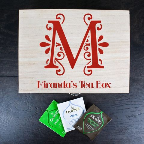 Personalised,Initial,Tea,Box, Initial, Tea, Box, http://www.uniquegiftsanddecor.co.uk/collections/new-products/products/initial-tea-box