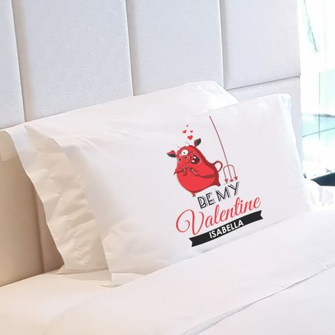 Personalised,Be,My,Valentine,Pillow,Case, Be, My, Valentine, Pillow, Case, unique, gifts, decor, www.uniquegiftsanddecor.co.uk