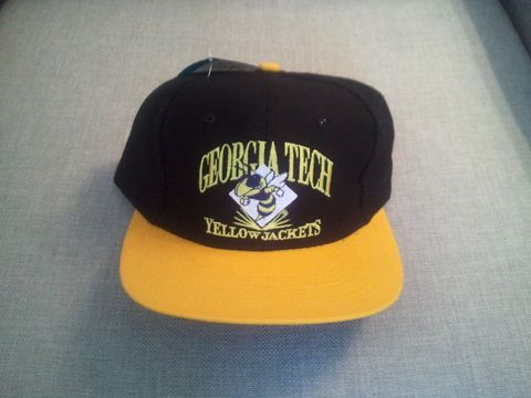Georgia,Tech,Yellow,Jackets,Snapback,Hat,Vintage Snapbacks, Georgia Tech Yellow Jackets, Snapback Hat