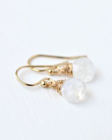 Small,Wire,Wrapped,Moonstone,Dangle,Earrings,small moonstone earrings, wire wrapped moonstone earrings