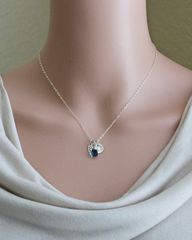 Personalized Baby Loss Necklace with September Birthstone and Initial - product images 5 of 9