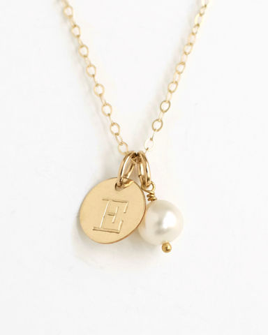 Personalized,Gold,Initial,Necklace,with,Birthstone,for,June,gold initial necklace with birthstone, letter and birthstone necklace, personalized birthstone necklace