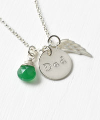 Memorial Necklace for Loss of Dad in Sterling Silver - product images 2 of 7