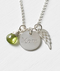 Memorial Necklace for Loss of Mom in Sterling Silver - product images 1 of 7
